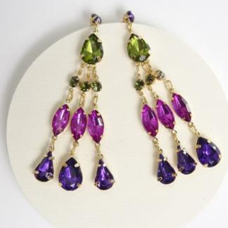 Purple Elegance Earring